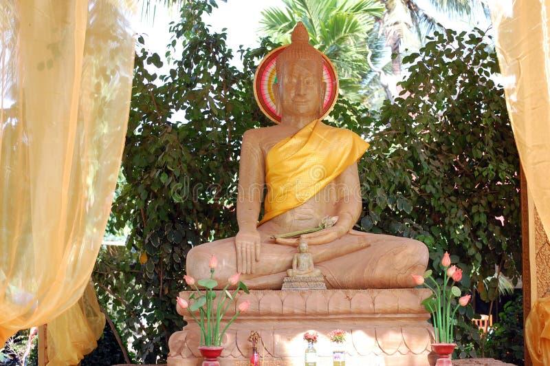 Style du Cambodge de statue d'image de Bouddha photographie stock libre de droits