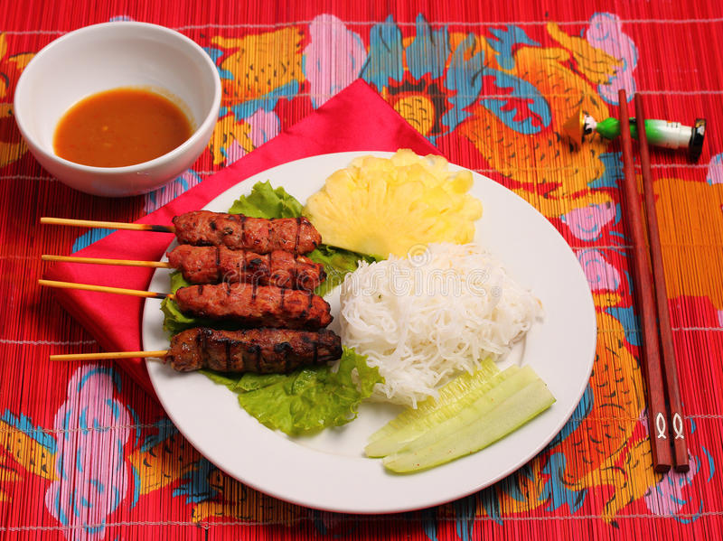 Style du Vietnam de salade de boeuf photographie stock