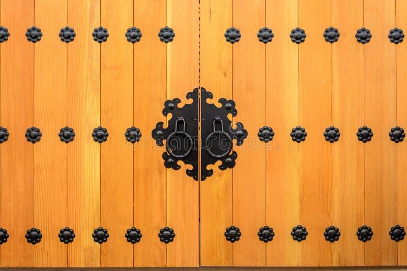 Style en bois de Coréen de porte image libre de droits