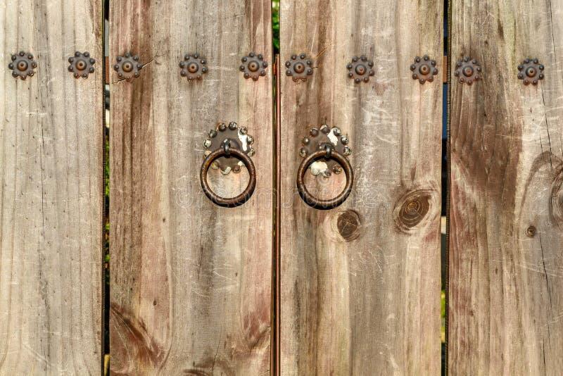 Style en bois de Coréen de porte photo libre de droits