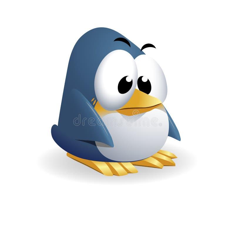 Style en caoutchouc mignon de bande dessinée de pingouin illustration stock