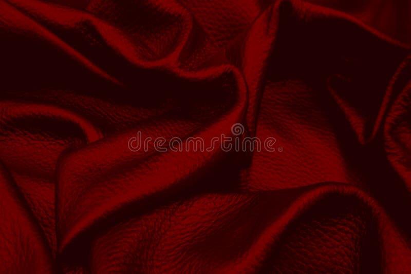 Style en cuir rouge de cru de fond de texture pour la conception graphique image stock