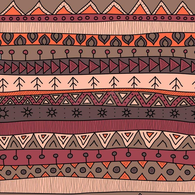 Style ethnique de modèle, indien ou africain sans couture multicolore tribal de patchwork illustration de vecteur