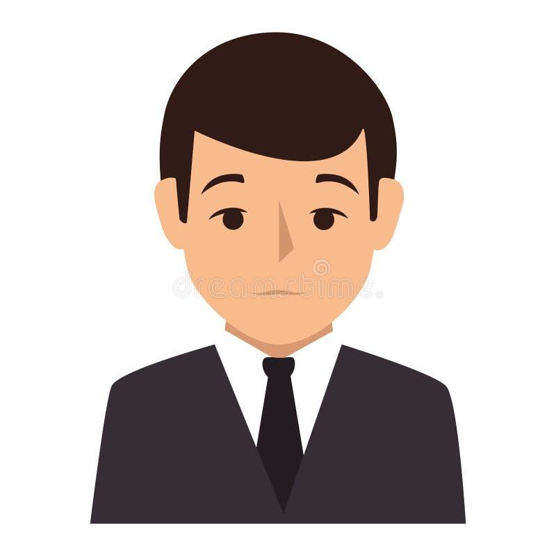 Style formel de silhouette de demi homme coloré de corps illustration libre de droits