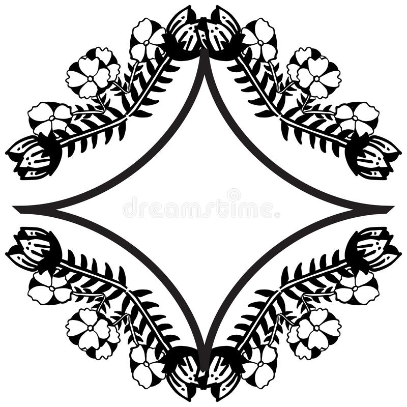 Style frame with various flower and leaf, wallpaper of greeting cards. Vector royalty free illustration