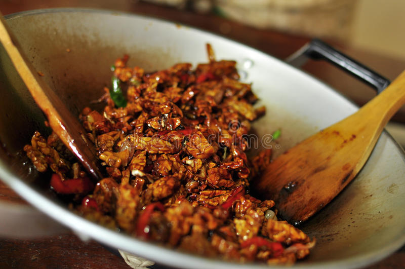 Style frit de Bali de tofu photos libres de droits