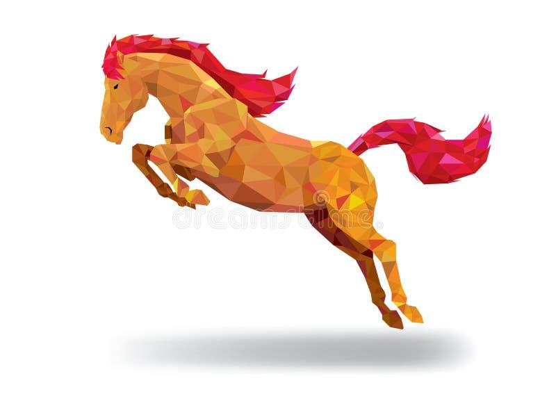 Style géométrique de modèle de bas polygone de cheval Vecteur ENV 10 illustration libre de droits