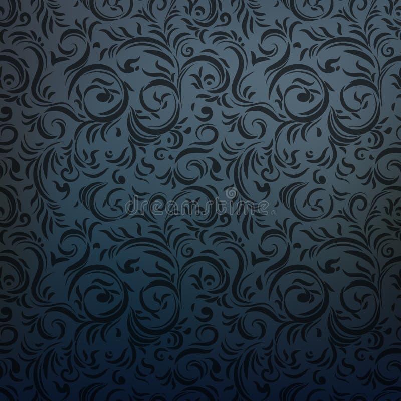 Style gothique de charbon de bois foncé illustration libre de droits