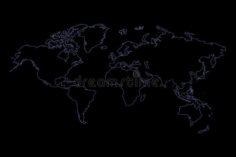 Style graphique de croquis de meilleur du monde ensemble populaire de carte, vecteur de fond de l'Am?rique au nord-sud entre l'As illustration libre de droits
