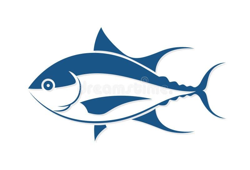 Style graphique de tatouage de poissons, vecteur illustration stock