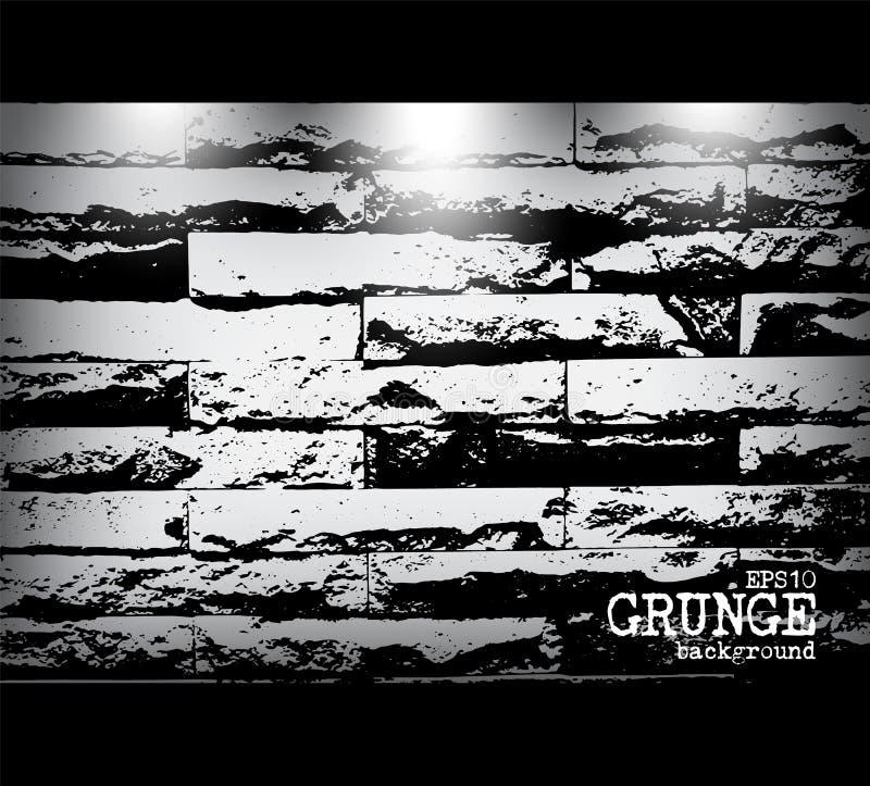 Style grunge de texture et de lumière modernes de mur de briques Vecteur illustration libre de droits