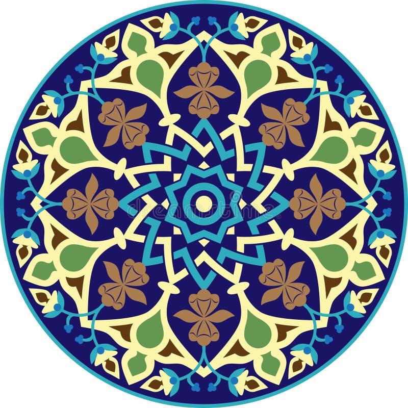 Style islamique d'ornement géométrique de mandala illustration de vecteur