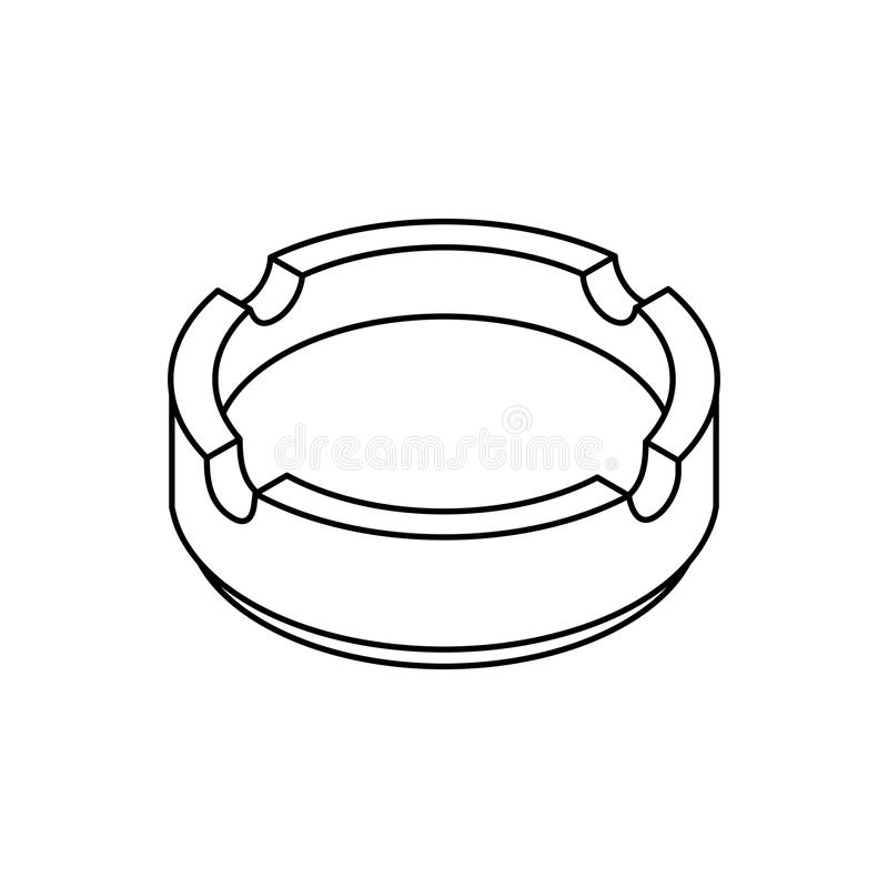 Style isométrique de cendrier d'isolement Accessoire de fumeur illustration libre de droits
