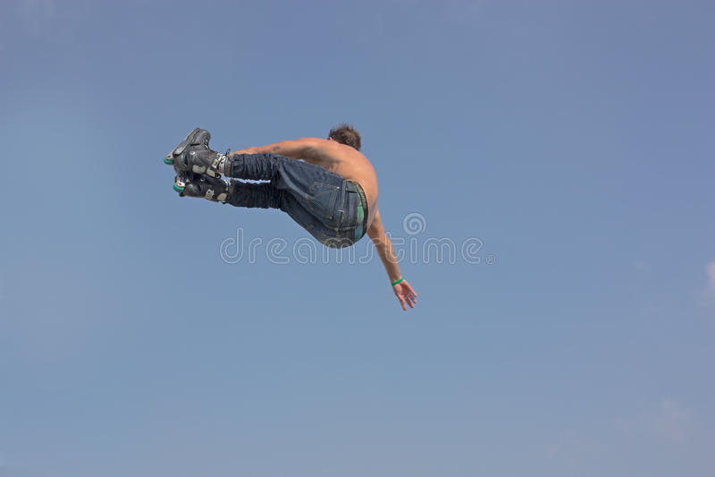 Style libre de patin de rouleau photos stock