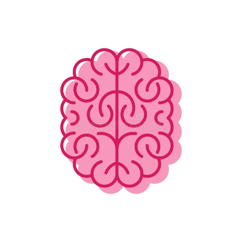 Style linéaire d'icône de cerveau Les cerveaux signent Symbole de vecteur illustration de vecteur