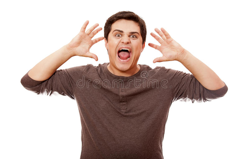 Download Style Man Cry At White Background. Royalty Free Stock Image - Image: 25216406