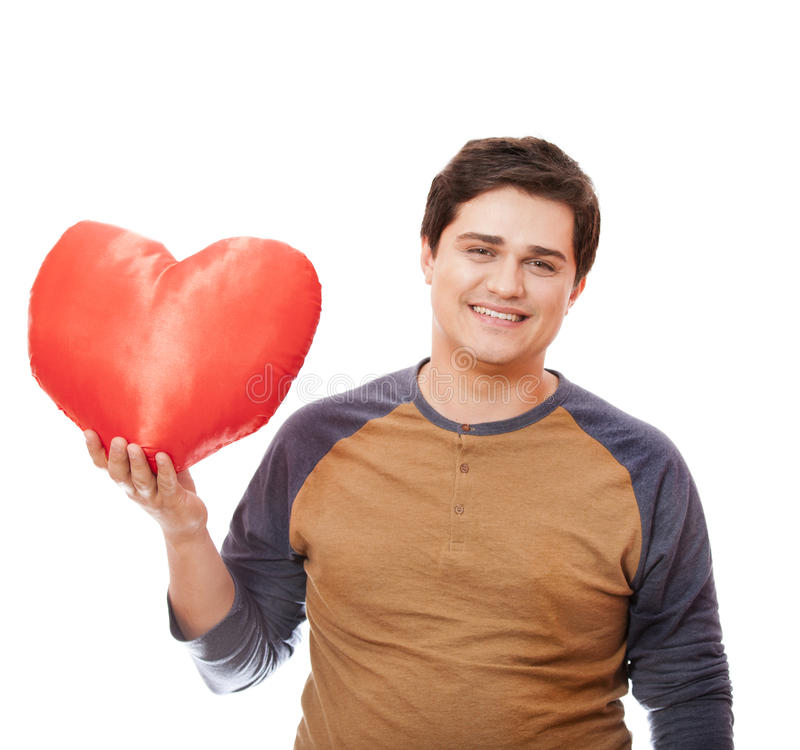 Style Man With Heart. Royalty Free Stock Image