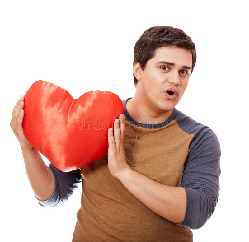 Download Style man with heart. stock photo. Image of favorite - 25216356