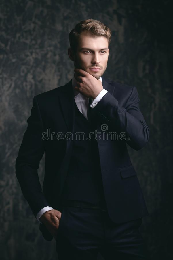 Style masculin respectable images stock