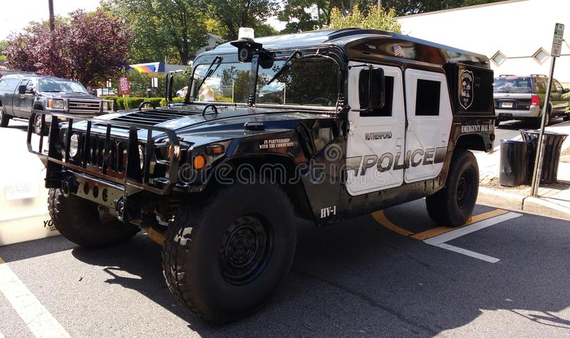 Style militaire HV-1 Hummer, Rutherford Police Emergency Vehicle photos libres de droits