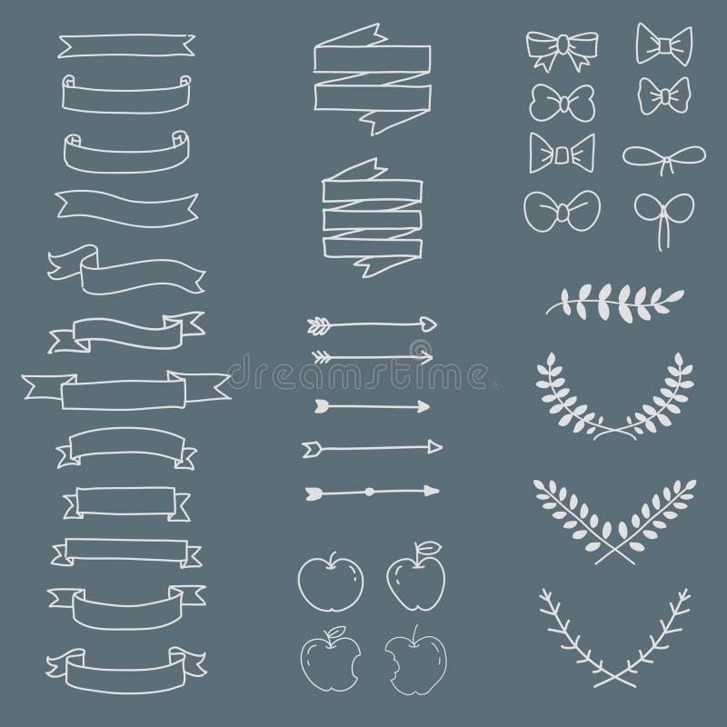 Style minimal réglé d'icône à main levée, vecteur illustration libre de droits