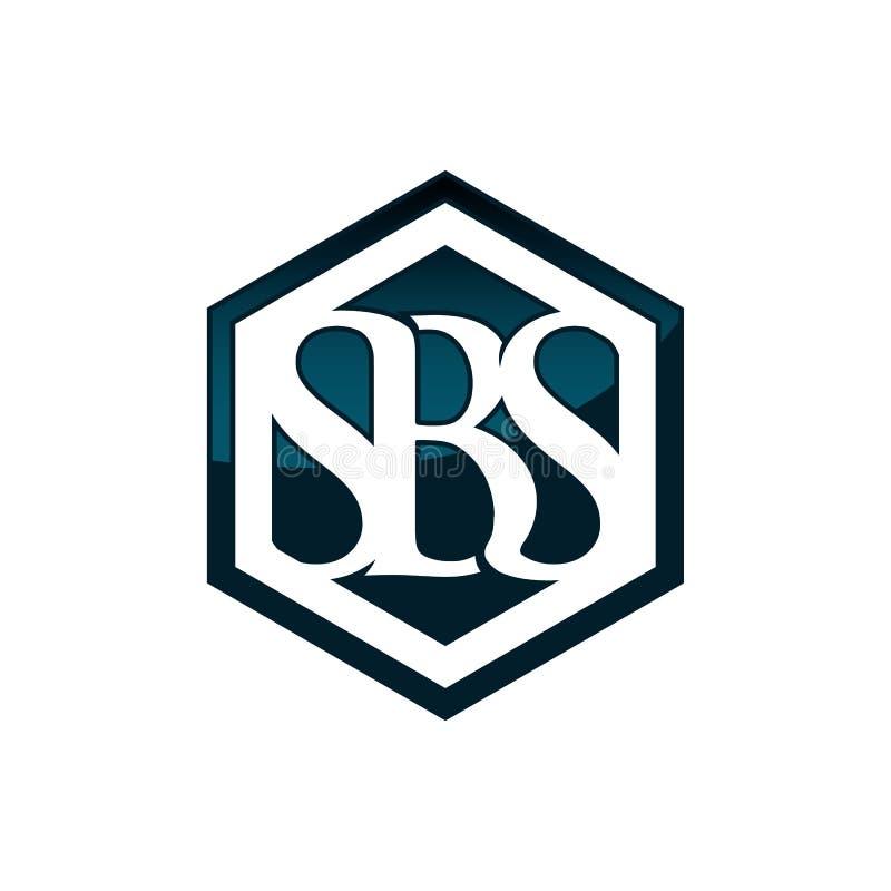 Style négatif de conception d'espace de logo de lettre d'hexagone illustration libre de droits