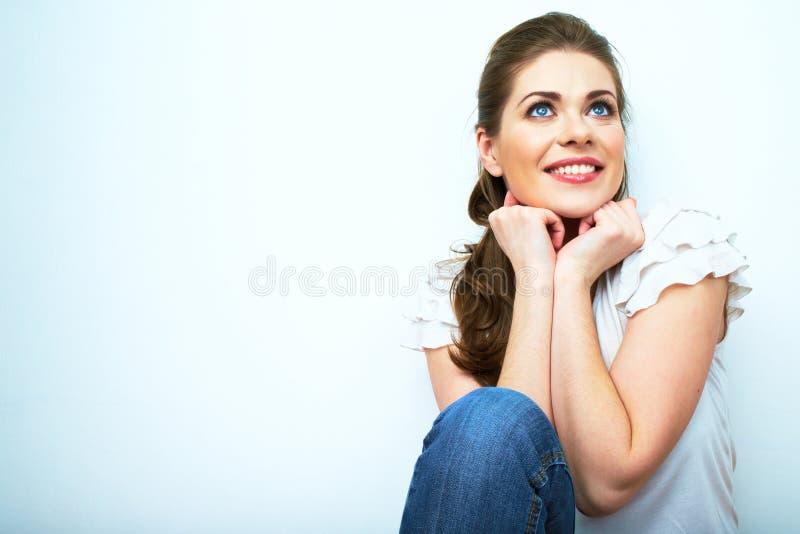 Style occasionnel de jeune de beauté femme d'allocation des places habillé photo stock