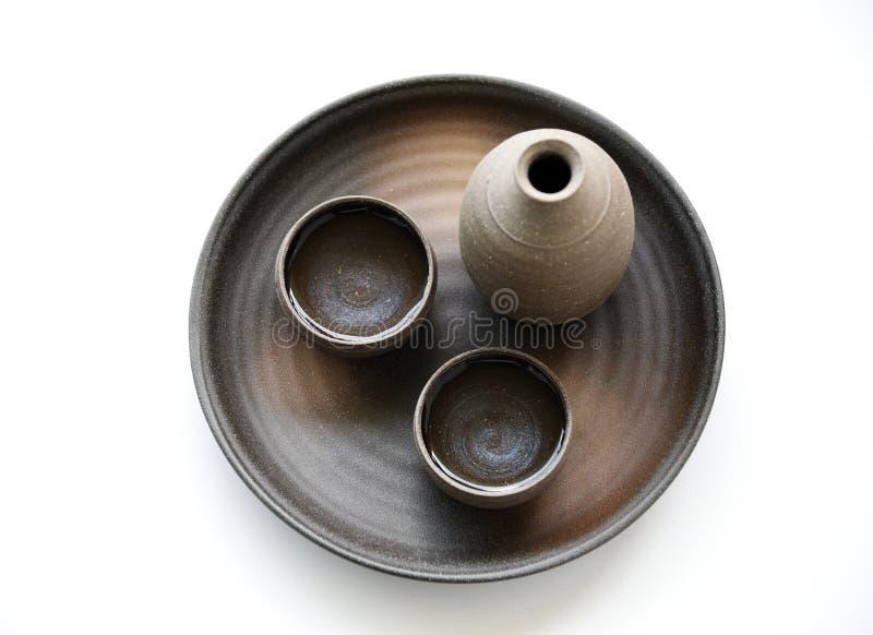 style oriental de boissons de saké japonais image stock