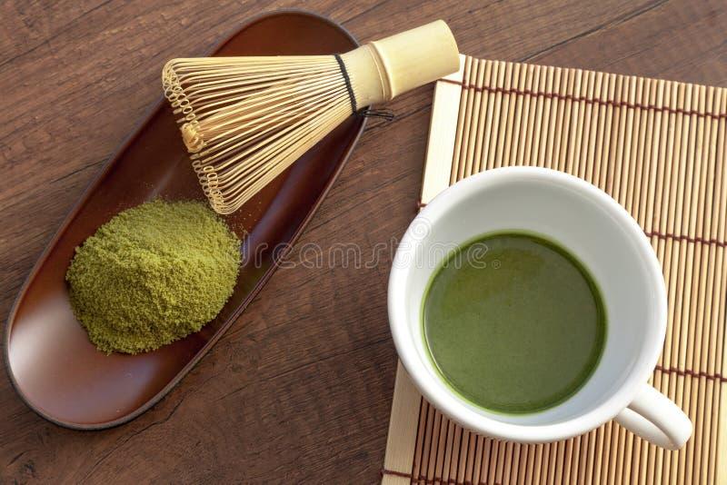 Download Style Original Et Japonais De Matcha Avec Une Certaine Poudre De Thé Vert Et T Image stock - Image du isolement, normal: 87708001