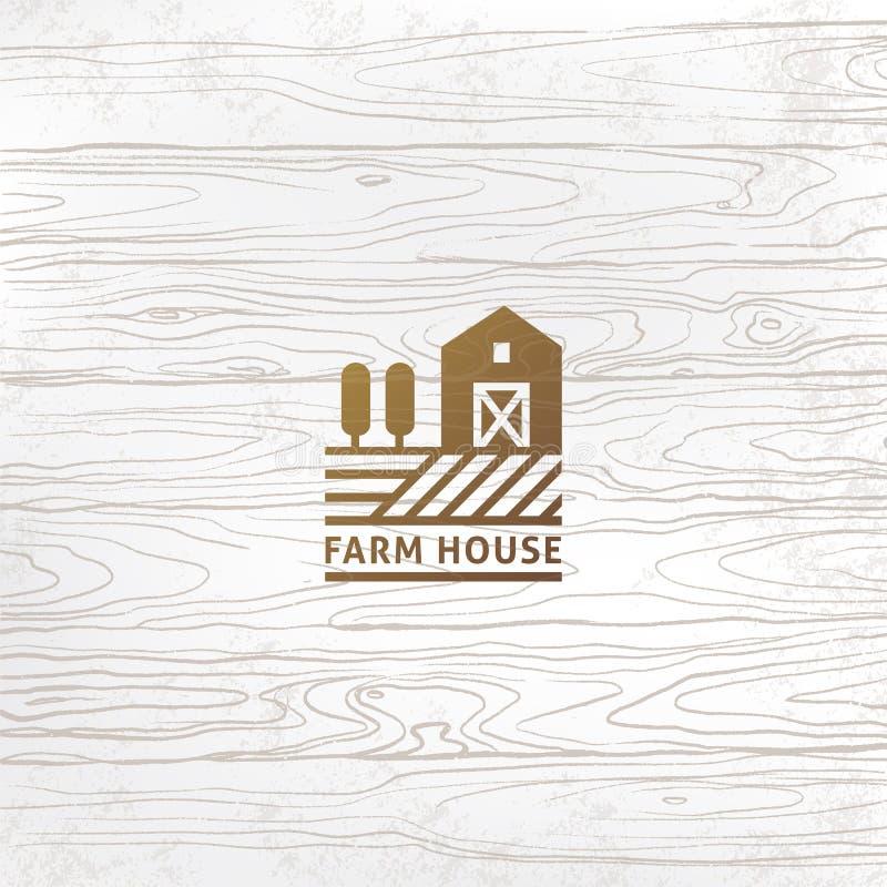 Style ou production linéaire de ferme de logo moderne avec un endroit pour le texte ou le nom de la société illustration de vecteur