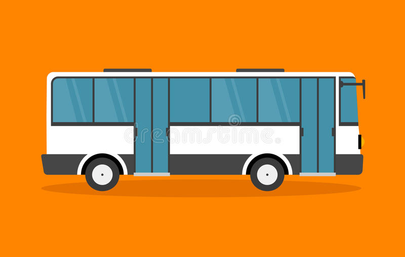 Style plat d'autobus illustration libre de droits
