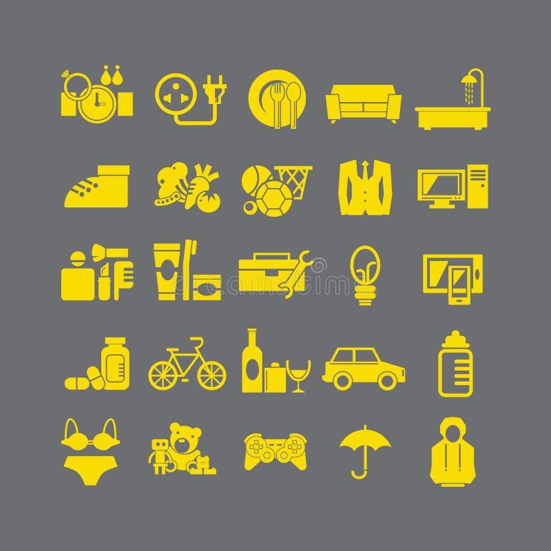 Style plat d'icône de magasin illustration libre de droits