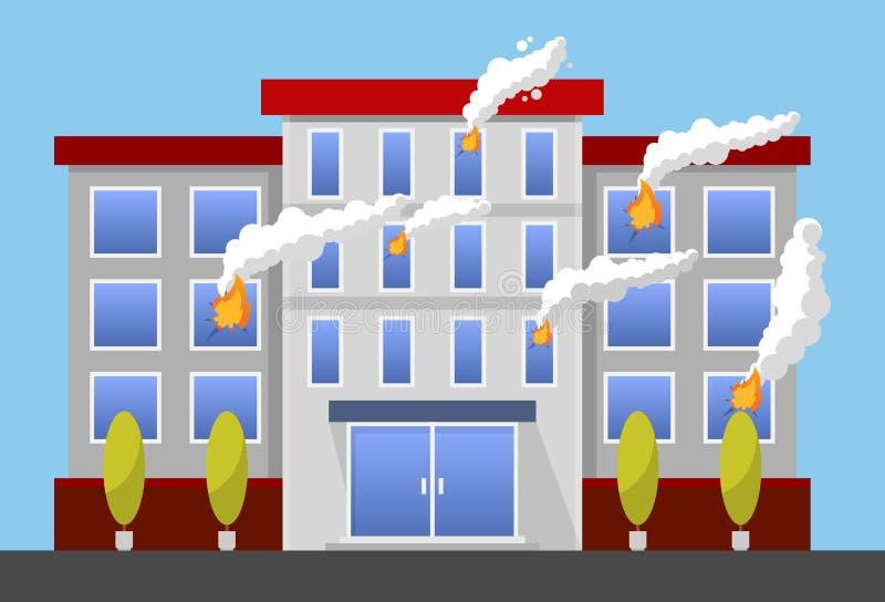 Style plat d'illustration colorée de vecteur d'assurance-incendie incendie illustration stock