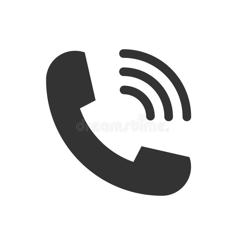 Style plat de sonnerie de symbole d'icône de vecteur de téléphone de combiné de téléphone pour la conception graphique, logo, sit illustration libre de droits