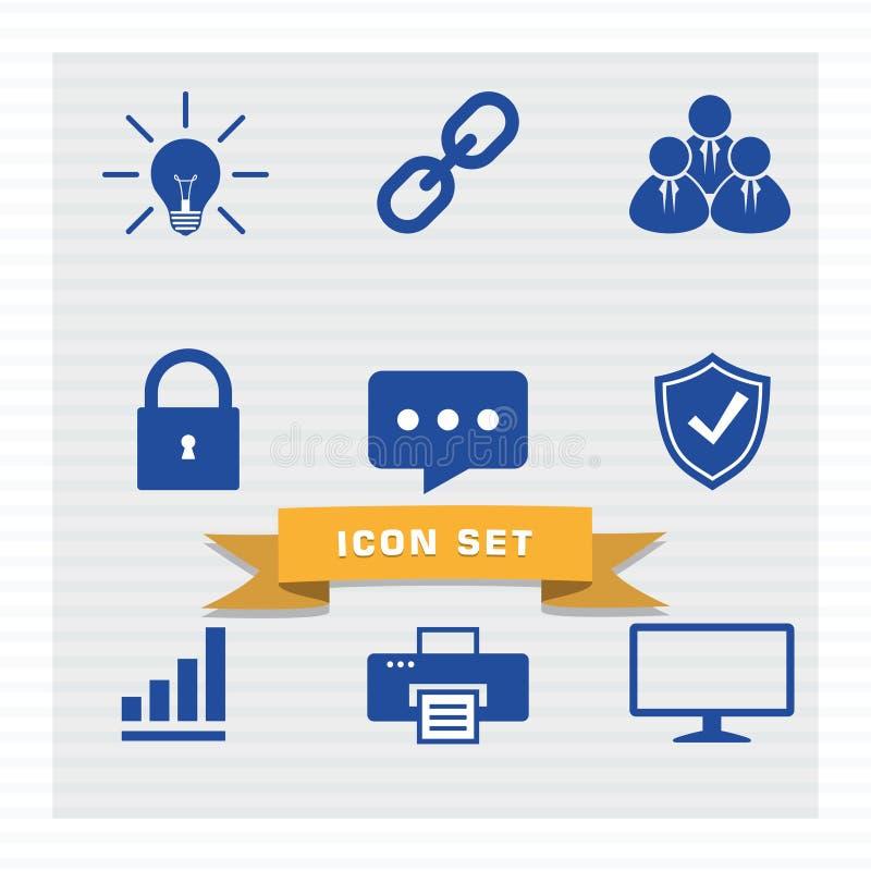 Style plat réglé d'icône d'affaires illustration de vecteur