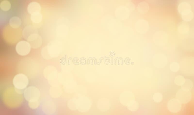 Style rétro abstrait avec blur bokeh illustration stock