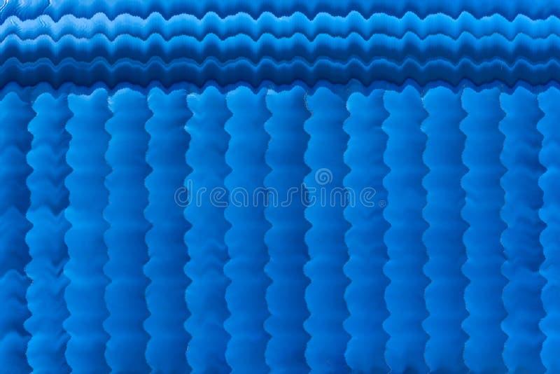 Style rayé de rayure bleue de rideaux en salle de cinéma photos stock