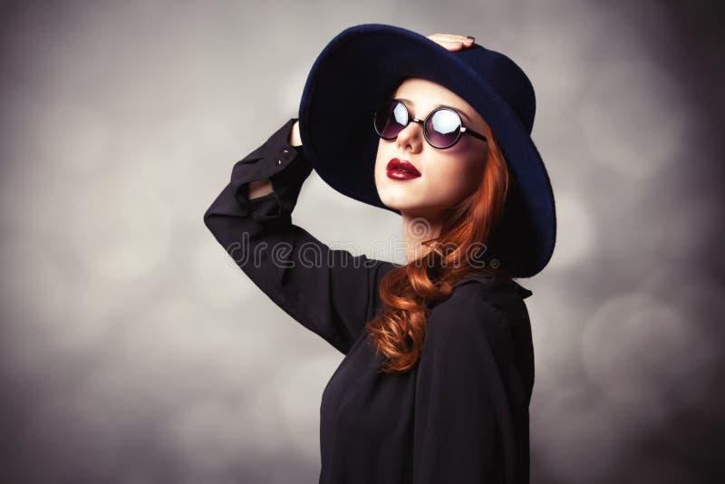 Style redhead women stock photography