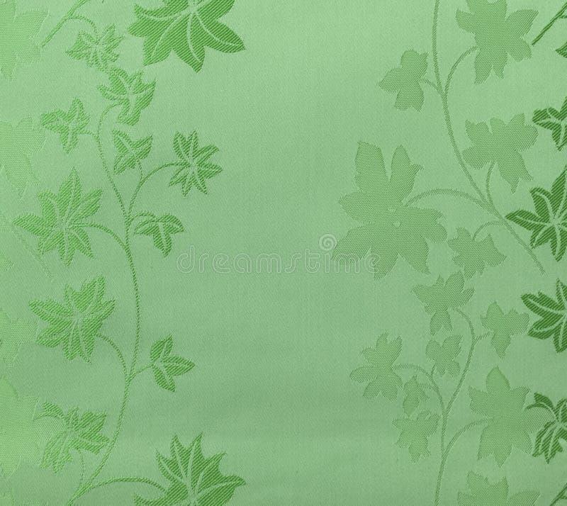 Style sans couture floral de vintage de fond de tissu de vert de modèle de rétro dentelle photos stock