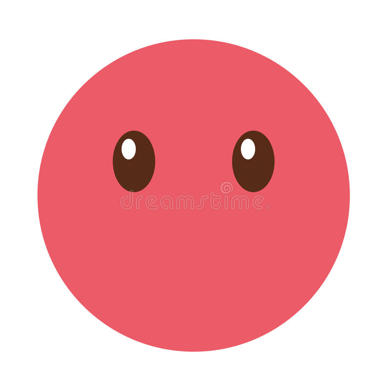 Style silencieux de kawaii de visage d'émoticône illustration libre de droits