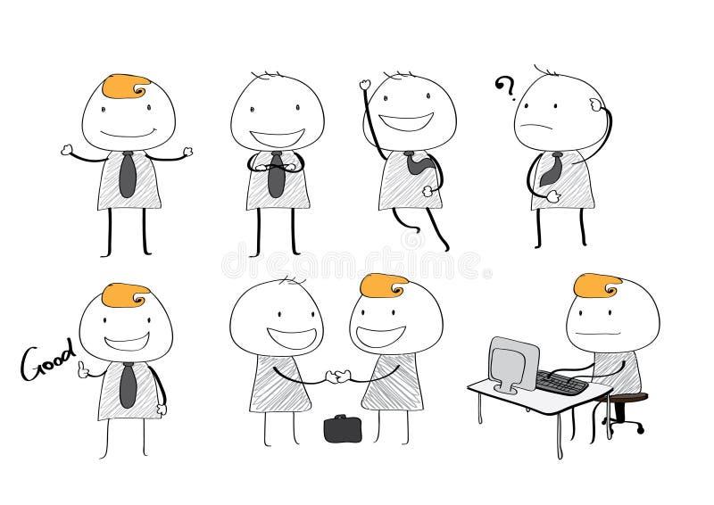 Style simple d'homme d'affaires de vecteur images stock