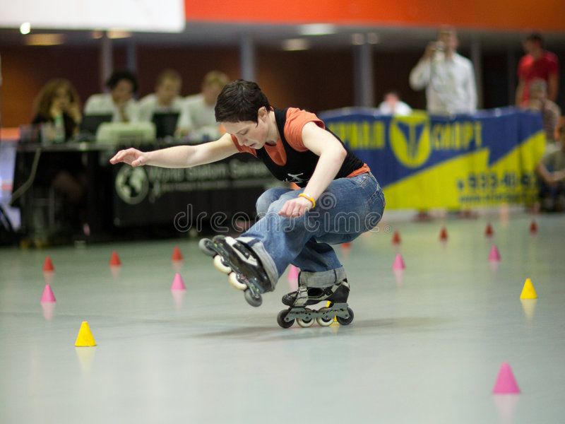 Style-slalom competition royalty free stock photo