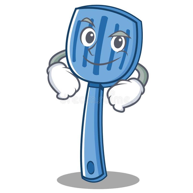 Style souriant d'un air affecté de bande dessinée de caractère de spatule illustration stock