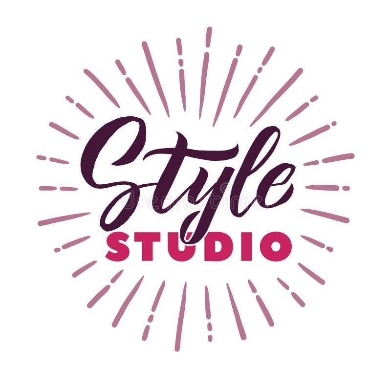 Style Studio. Logo Beauty Vector Lettering. Custom handmade calligraphy. Vector Illustation royalty free illustration