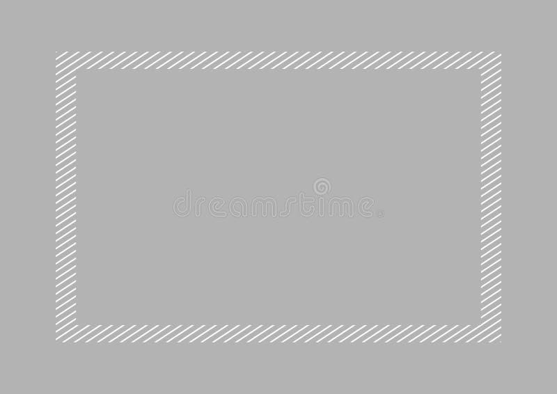 Style ?tendu plat et rectangle de couleur grise ? la mode de cadre pour l'espace de copie, gris vide de cadre pour la conception  illustration libre de droits