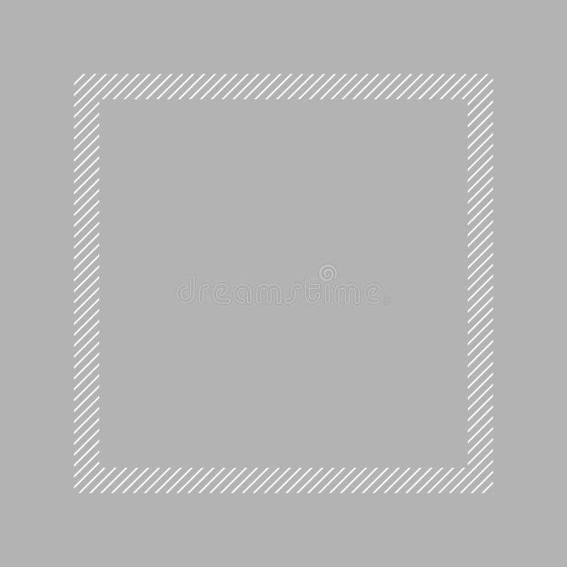 Style ?tendu plat gris et place de couleur en pastel de cadre ? la mode pour l'espace de copie, gris vide de cadre pour la concep illustration stock