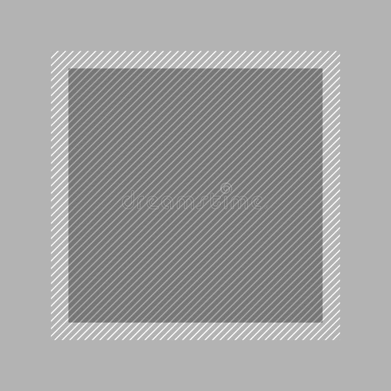Style ?tendu plat gris et place de couleur en pastel de cadre ? la mode pour l'espace de copie, gris vide de cadre pour la concep illustration libre de droits