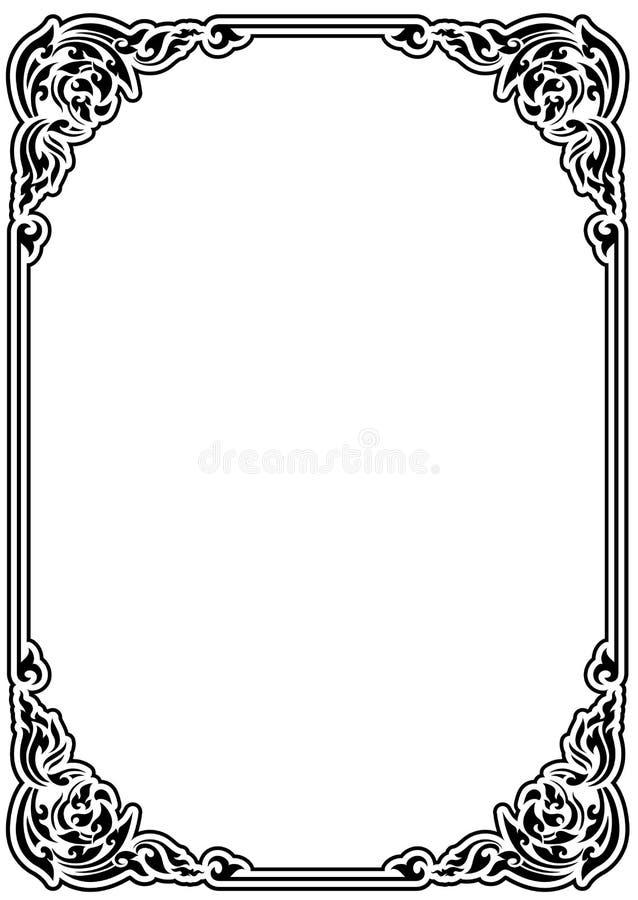 Style traditionnel carré de cru de pochoir illustration stock