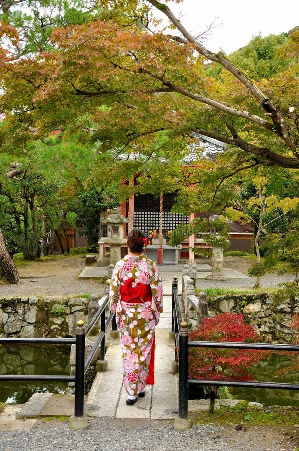 Style traditionnel de femme du Japon images stock
