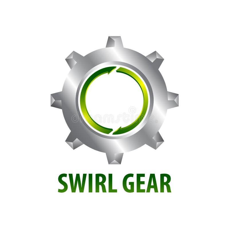 Style tridimensionnel de conception de l'avant-projet de logo de vitesse de remous Élément graphique de calibre de symbole illustration de vecteur